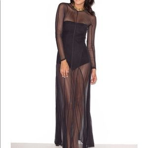 SULTRY SHEER MAXI DRESS